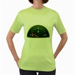 Fuel Gauge Empty 1600 Clr Women s Green T-Shirt