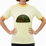 Fuel Gauge Empty 1600 Clr Women s Fitted Ringer T-Shirt