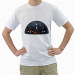 Fuel Gauge Empty 1600 Clr White T-Shirt