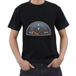 Fuel Gauge Empty 1600 Clr Black T-Shirt (Two Sides)
