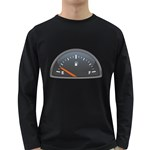 Fuel Gauge Empty 1600 Clr Long Sleeve Dark T-Shirt