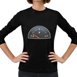 Fuel Gauge Empty 1600 Clr Women s Long Sleeve Dark T-Shirt
