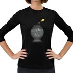 Fish Jump Pc 1600 Clr Women s Long Sleeve Dark T-Shirt