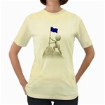 Flag At Summit 1600 Clr Women s Yellow T-Shirt