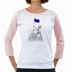Flag At Summit 1600 Clr Girly Raglan