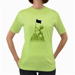 Flag At Summit 1600 Clr Women s Green T-Shirt
