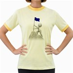 Flag At Summit 1600 Clr Women s Fitted Ringer T-Shirt