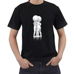 Giving Hug Pc 1600 Clr Black T-Shirt (Two Sides)