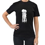 Giving Hug Pc 1600 Clr Women s Black T-Shirt (Two Sides)