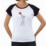 Figure With Megaphone 1600 Clr Women s Cap Sleeve T