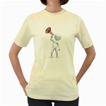 Figure With Megaphone 1600 Clr Women s Yellow T Front