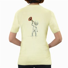 Figure With Megaphone 1600 Clr Women s Yellow T Back