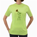 Figure With Megaphone 1600 Clr Women s Green T-Shirt