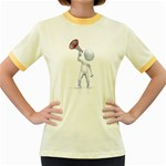 Figure With Megaphone 1600 Clr Women s Fitted Ringer T-Shirt