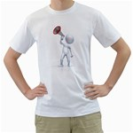 Figure With Megaphone 1600 Clr White T-Shirt