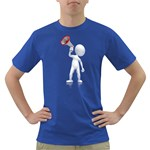 Figure With Megaphone 1600 Clr Dark T-Shirt