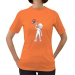 Figure With Megaphone 1600 Clr Women s Dark T-Shirt