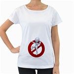 Figure Prohibit Stop 1600 Clr Maternity White T Front