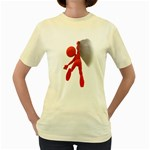 Figure Hang Cliff 1600 Clr Women s Yellow T-Shirt