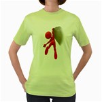 Figure Hang Cliff 1600 Clr Women s Green T-Shirt