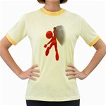 Figure Hang Cliff 1600 Clr Women s Fitted Ringer T-Shirt