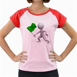 Figure Holding Green Flag 1600 Clr Women s Cap Sleeve T-Shirt