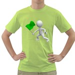 Figure Holding Green Flag 1600 Clr Green T-Shirt