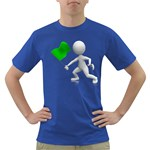 Figure Holding Green Flag 1600 Clr Dark T-Shirt