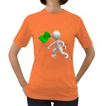 Figure Holding Green Flag 1600 Clr Women s Dark T-Shirt