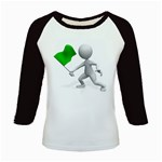Figure Holding Green Flag 1600 Clr Kids Baseball Jersey