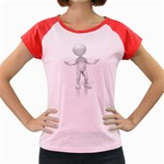 Figure Confused 1600 Clr Women s Cap Sleeve T-Shirt