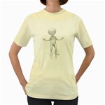 Figure Confused 1600 Clr Women s Yellow T-Shirt