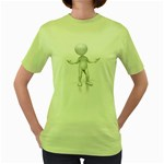 Figure Confused 1600 Clr Women s Green T-Shirt