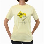 Under Construction Pc 1600 Clr Women s Yellow T-Shirt