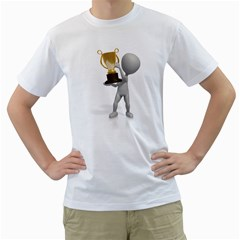 Stick Figure With Trophy 1600 Clr White T Front