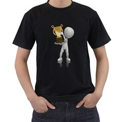 Stick Figure With Trophy 1600 Clr Black T Front