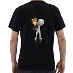 Stick Figure With Trophy 1600 Clr Black T Back