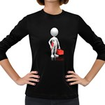 Stick Figure Plumber Toolbox 1600 Clr Women s Long Sleeve Dark T-Shirt