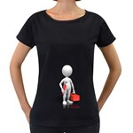 Stick Figure Plumber Toolbox 1600 Clr Maternity Black T-Shirt