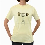 Stick Figure List Weight 1600 Clr Women s Yellow T-Shirt