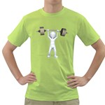 Stick Figure List Weight 1600 Clr Green T-Shirt