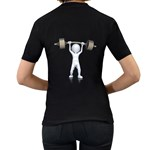 Stick Figure List Weight 1600 Clr Women s Black T Back