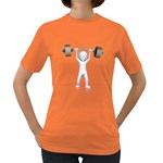 Stick Figure List Weight 1600 Clr Women s Dark T-Shirt