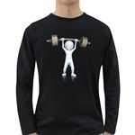 Stick Figure List Weight 1600 Clr Long Sleeve Dark T-Shirt