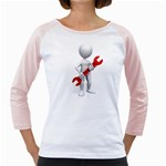 Stick Figure Holding Wrench 1600 Clr Girly Raglan
