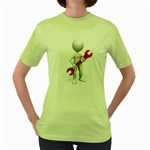 Stick Figure Holding Wrench 1600 Clr Women s Green T-Shirt