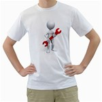 Stick Figure Holding Wrench 1600 Clr White T-Shirt