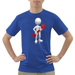 Stick Figure Holding Wrench 1600 Clr Dark T-Shirt