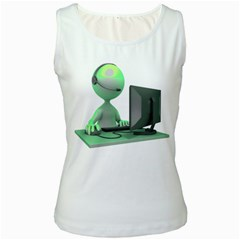 Stick Figure Customer Service Women s Tank Top from ArtAttack2Go Front