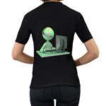 Stick Figure Customer Service Women s Black T Back
